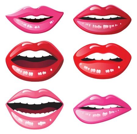 glossy lips Иллюстрация