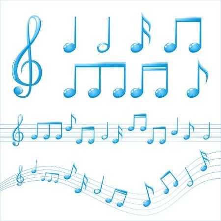 quavers: music notes Illustration