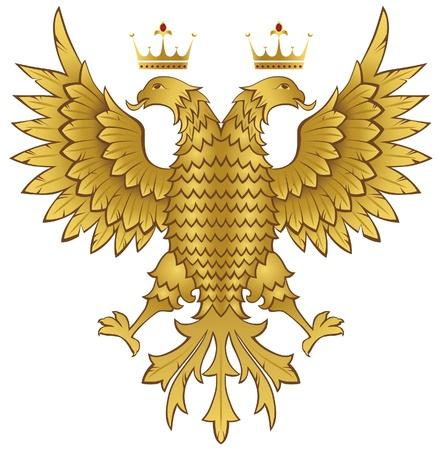 nobility symbol: double headed eagle Illustration