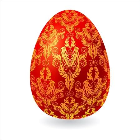 golden religious symbols: Easter egg