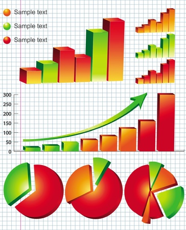 business graphs Stock Vector - 14270128