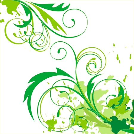 abstract floral background Stock Vector - 14270087