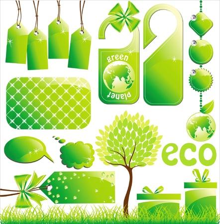 bage: ecology desigh elements Illustration