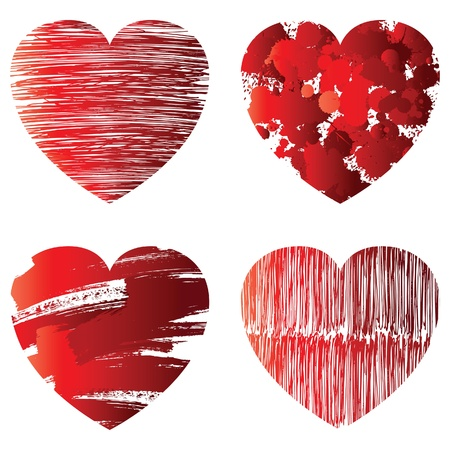 three dimensional shape: hand drawn hearts