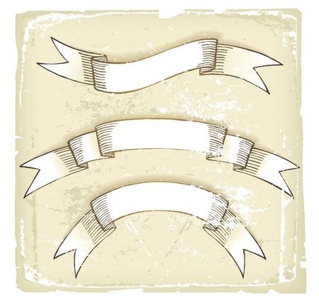 hand drawn retro-styled ribbons Stock Vector - 14270179