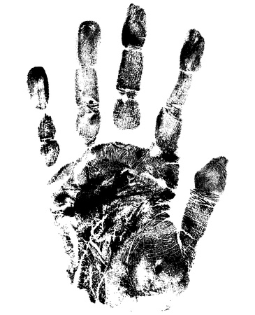 left hand: hand print Illustration