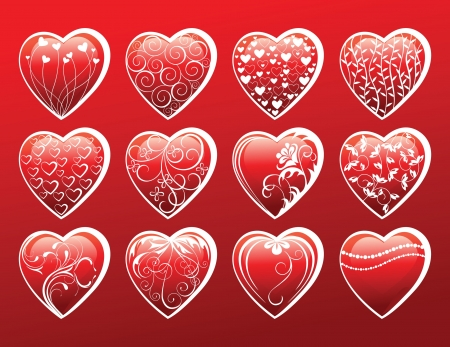 Valentine s day hearts Vector
