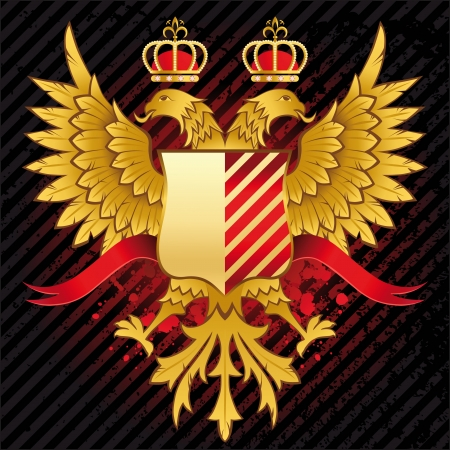 double headed eagle: heraldic background with double headed eagle Illustration