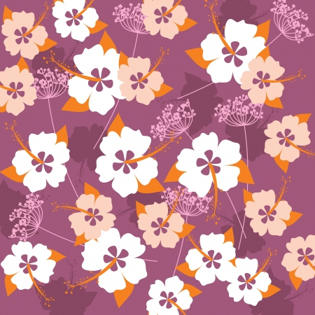 background with hibiscus flowers Vector