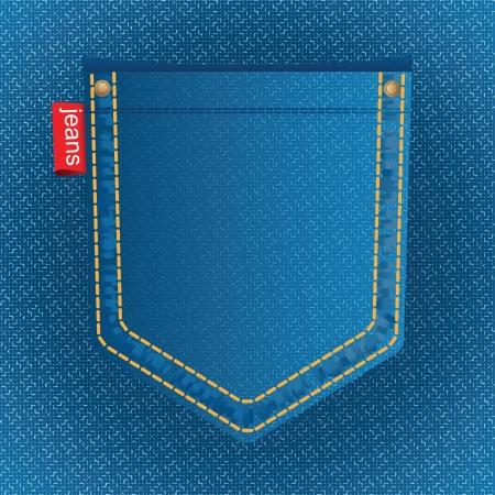 rivet: карман джинсов Иллюстрация