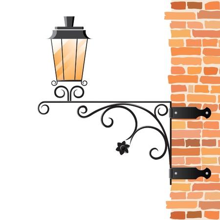 lamp silhouette: Street lantern Illustration