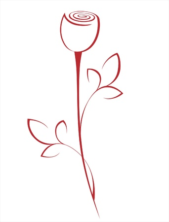stylized rose flower Stock Vector - 14264863