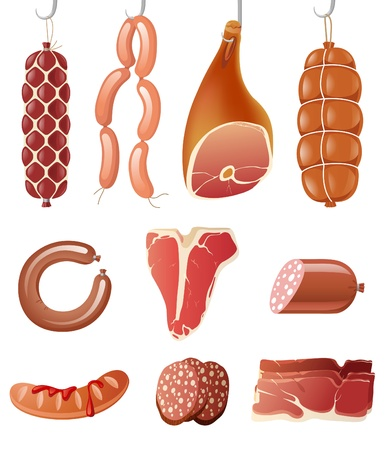 highly: 10 highly detailed meat icons