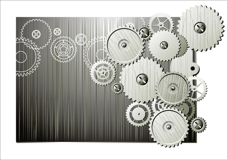 gearings: abstract background with mechanism details  Illustration