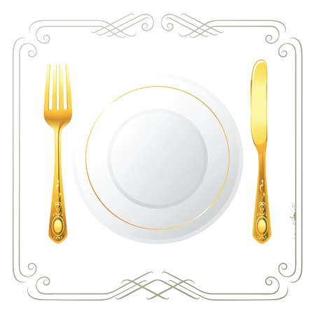 place setting:  one person place setting
