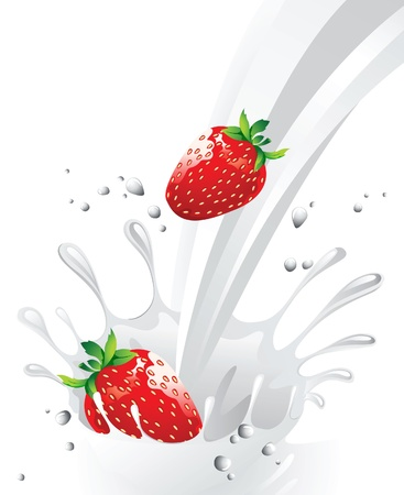 strawberry milk Stock Vector - 14270105