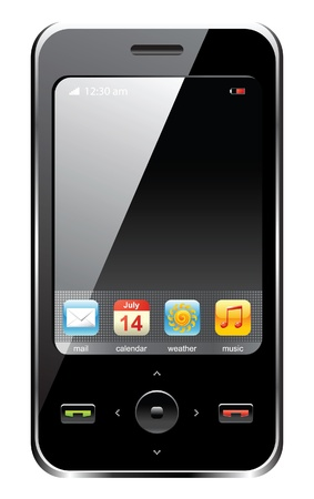 mobile communications: mobile phone Illustration
