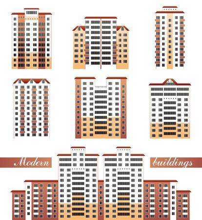 modern buildings set Stock Vector - 13869929