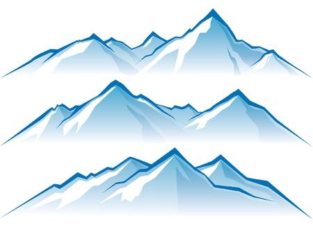 neve montagne: montagne