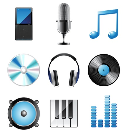 music icons set Stock Vector - 14270175