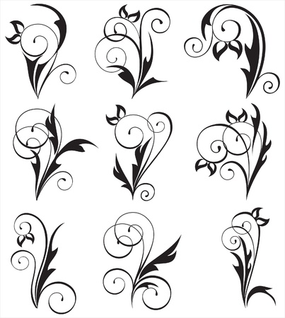 floral design elements Stock Vector - 14270070