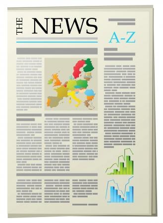 Zeitung Vektorgrafik