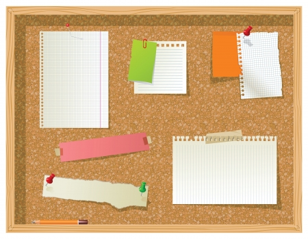 cork board: bulletin board