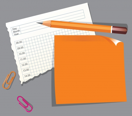 organizer page: paper pieces with place for your text
