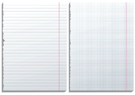 2 paper pages Stock Vector - 14270200