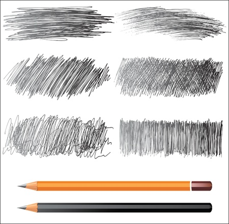 pencil texture: hand drawn banners  Illustration
