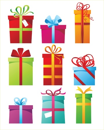 stylized presents boxes Stock Vector - 14270319