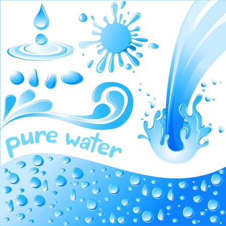 pure water set  Stock Vector - 14270322