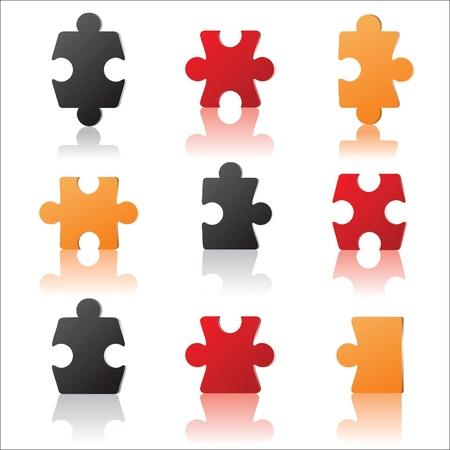 final piece of puzzle: puzzles pieces  Illustration