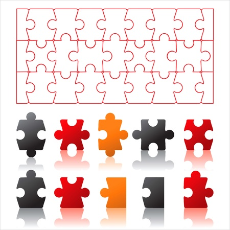 puzzles background  Stock Vector - 14270306