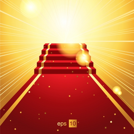 red carpet event: On the red carpet Illustration
