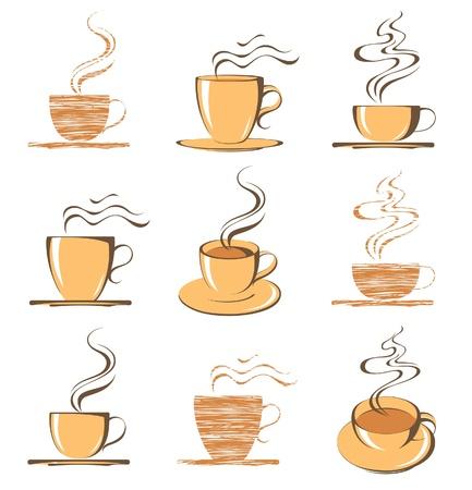 smoke: koffiekopjes iconen