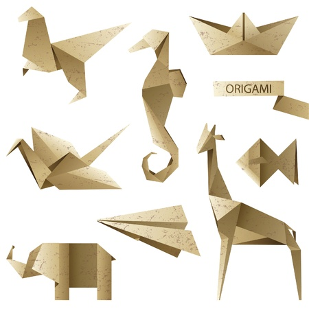 paper airplane: old-fashioned origami set