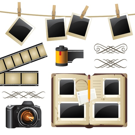 Retro-styled photography set Stock Vector - 13863902