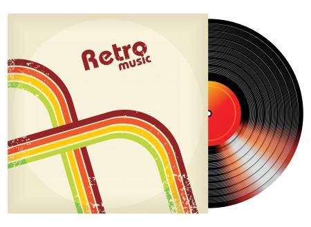 disc: retro-styled vinyl