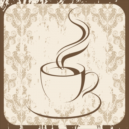 retro-styled background with coffee cup Stock Vector - 14270324