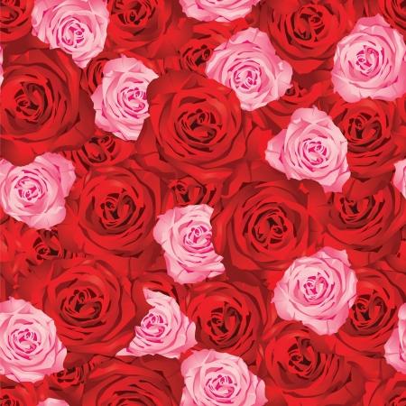 naadloze achtergrond met rozen
