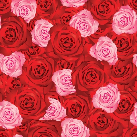 seamless background with roses Stock Vector - 14270332