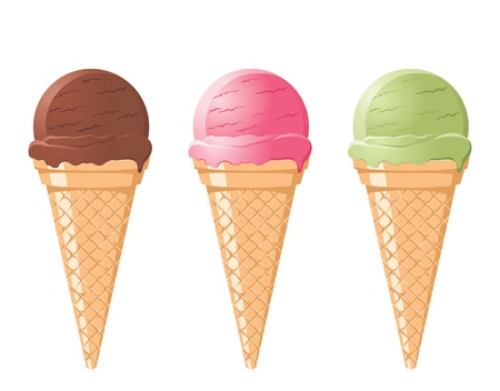 icecream cones Vector