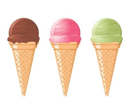 ice cream vanilla: icecream cones