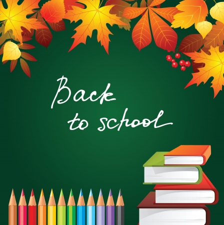 marple: back to school background with autumn leaves