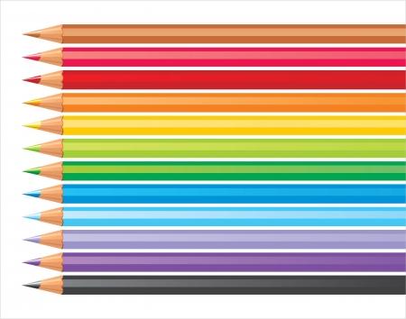 coloured pencils Stock Vector - 14270356