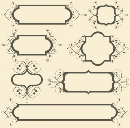 retro-styled floral frames Stock Vector - 14270352