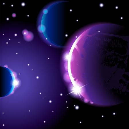 uranus: Abstract space landscape