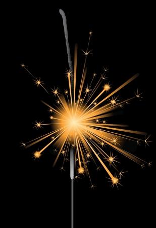 new year s: sparkler Illustration