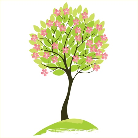 spring tree Stock Vector - 14270466